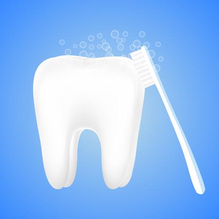 歯ブラシと泡バブルの 写真素材 - 77916999