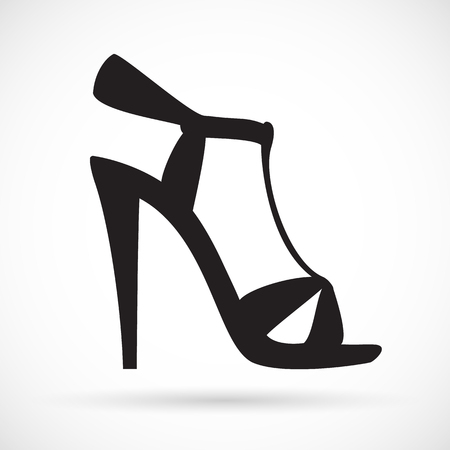 Women's sandals with high heels icon