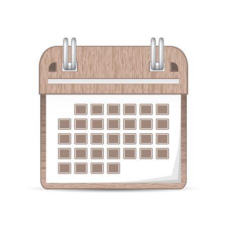 Beautiful calendar icon Ilustrace