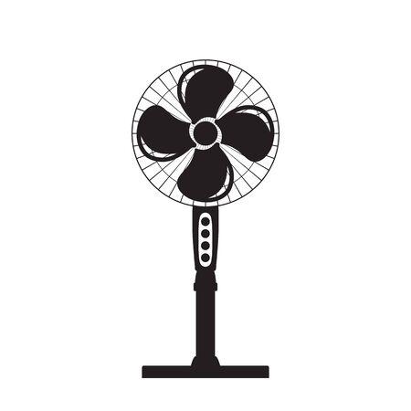Vector pictogram van een fan Stock Illustratie