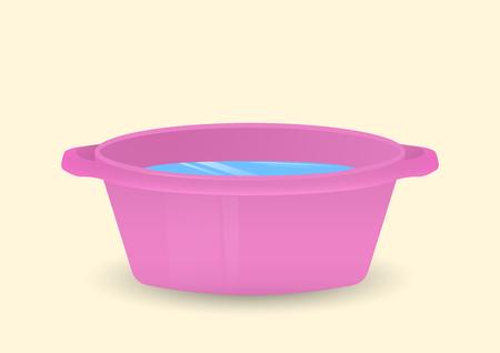 Een kom water. Geïsoleerde vectorillustratie. Stockfoto - 79248581