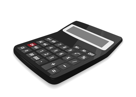 Realistic calculator, isolated on white background. Vector illustration. Illustration