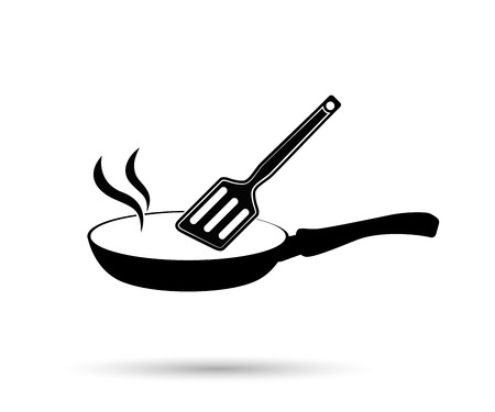 Vector frying pan icon