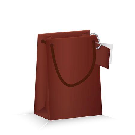 Paper shopping bag. Vector illustration