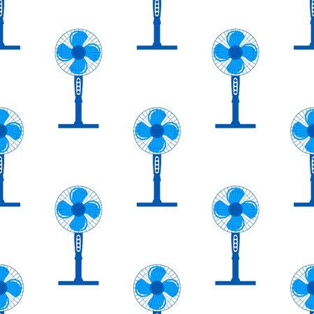 Naadloos patroon met ventilator