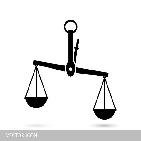 Weegschaal vector icoon Stock Illustratie