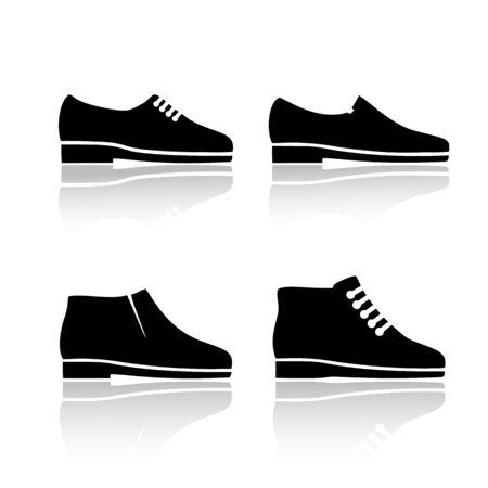 Mens dress shoe icon. Set of vector icons. Ilustracja