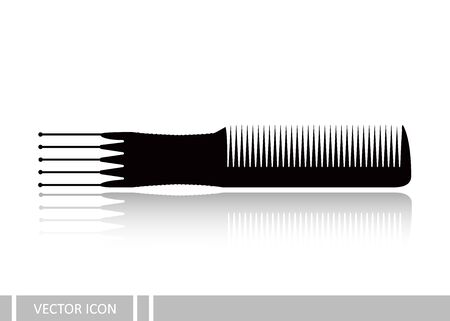 Comb vector icon Illustration