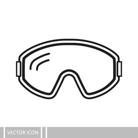 Protective glasses. Vector icon in a line design style.