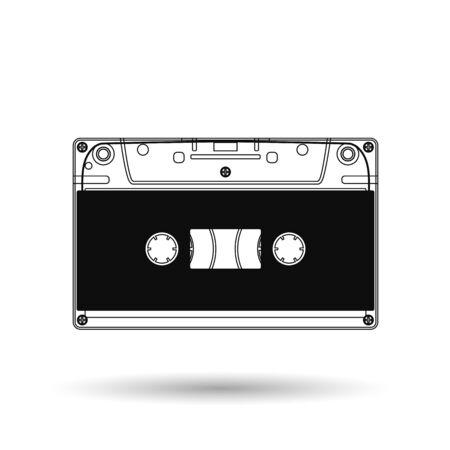 Cassette. Vector icon. 向量圖像