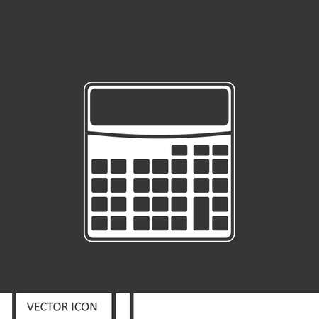 electronic background: Calculator vector icon