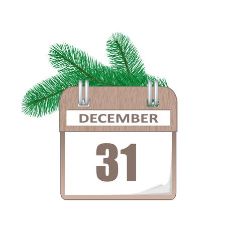 December 31 calendar illustration.