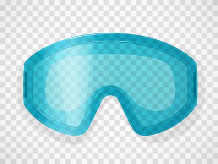 투명 한 배경에 안전 안경입니다. 현실적인 벡터 일러스트 레이 션.