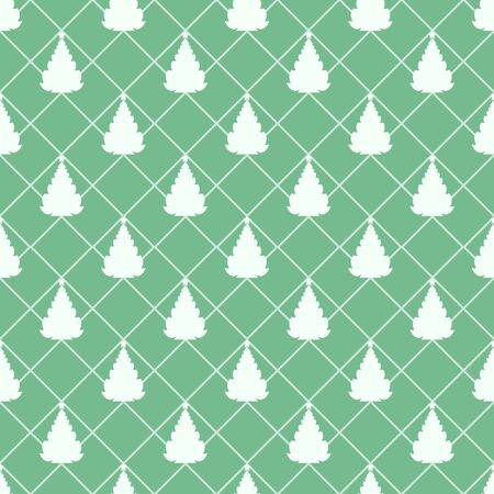 Christmas tree. Seamless pattern. Happy New Year. Vector element for New Year`s design.