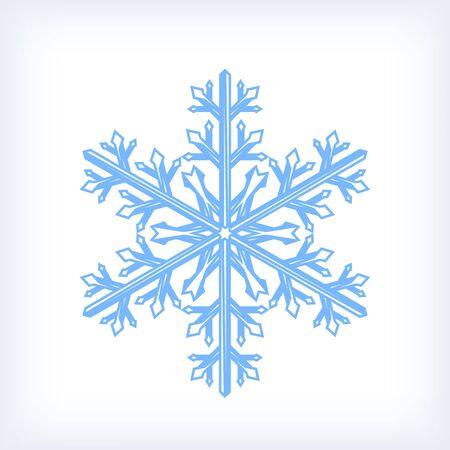 Snowflake icon, isolated on white background. Winter Christmas element for design. Ilustração