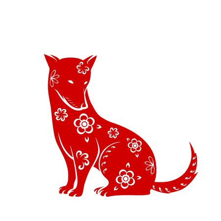 Dog symbol for Chinese New Year 2018.