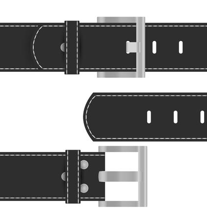 Black belt. Vector illustration isolated on white background. Çizim
