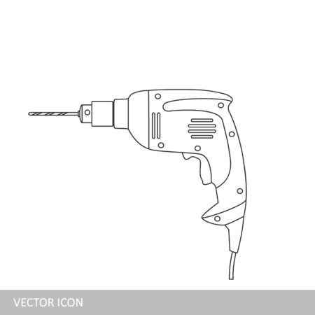 Manual electric drill illustration.