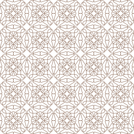 Seamless geometric pattern. Abstract floral vector background. Element of design. Illustration