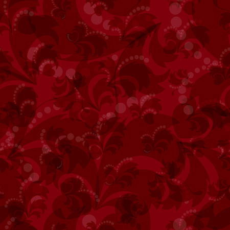 Vector seamless floral pattern in red. Abstract background.