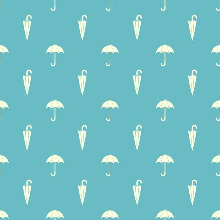 Umbrella background. Seamless pattern with open and closed umbrella.