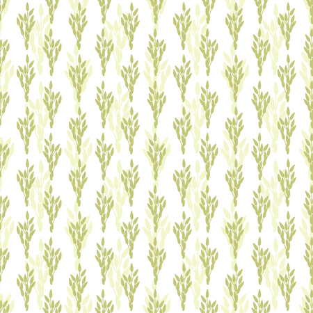 Grass seeds. Botanical seamless pattern with seeds of herbs.