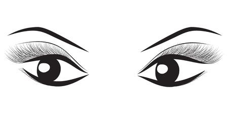 Beautiful black and white female eye