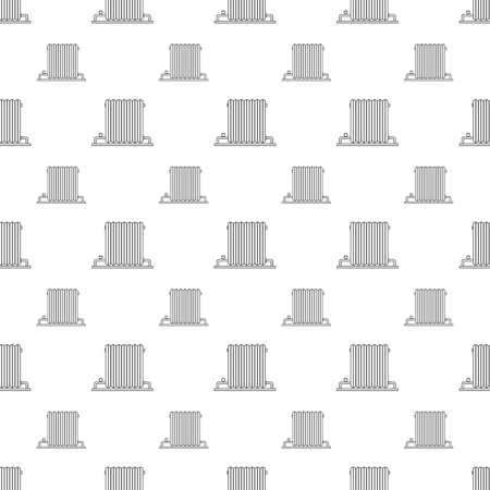 Radiator heating. Seamless pattern with radiators on a white background.  イラスト・ベクター素材