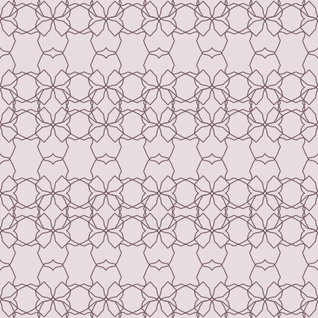 Abstract floral geometric pattern. Seamless beautiful pattern. 矢量图像