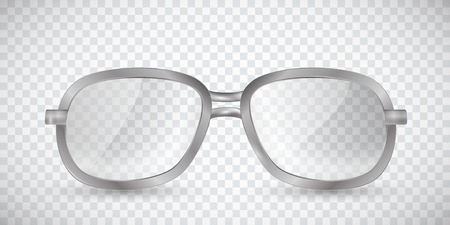 Glasses. Metal sunglasses isolated on a transparent background.