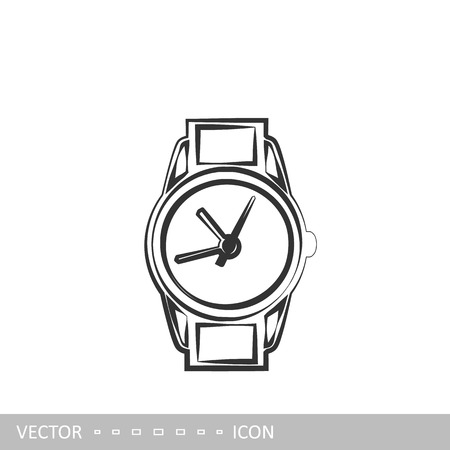 Wrist Watch. Vector icon in the style of linear design.