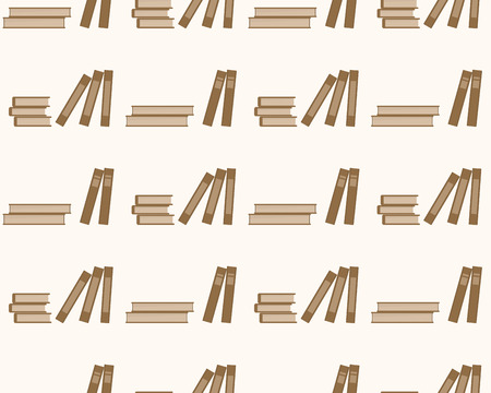 Books seamless pattern education. Background with books on a white background.