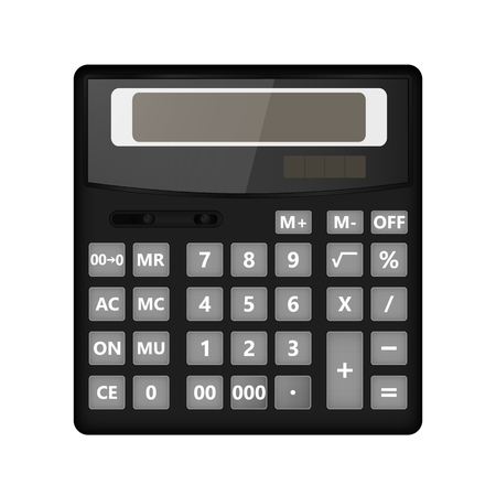 Realistic calculator on a white background. Vector illustration.