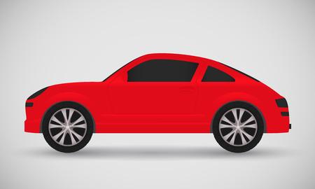 Vector sport red car. Vector illustration