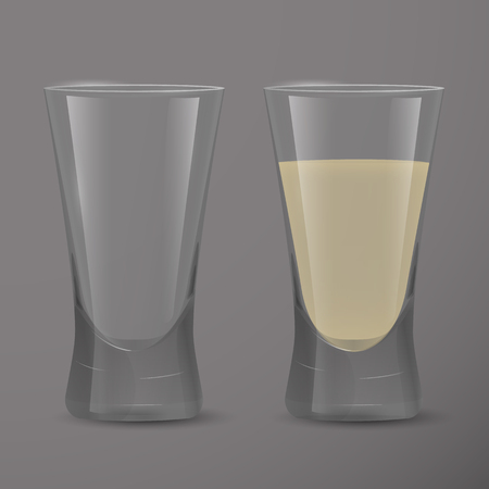 Realistic transparent glass.Vector illustration