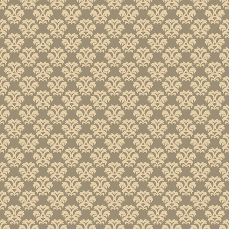 Vector seamless beige floral pattern in vintage style