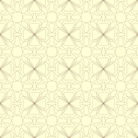 Seamless abstract floral pattern. Geometric flower ornament on a light background.