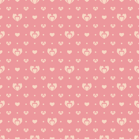 Pink background with hearts. Seamless abstract pattern. Happy Valentines Day. Иллюстрация