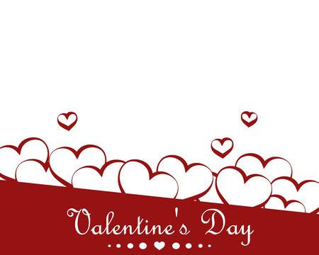 Beautiful background with hearts. Happy Valentines Day. Vector illustration. Illusztráció