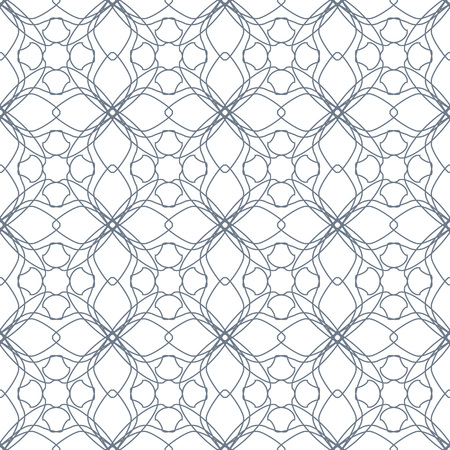 Seamless abstract floral pattern. Geometric flower ornament on a white background.