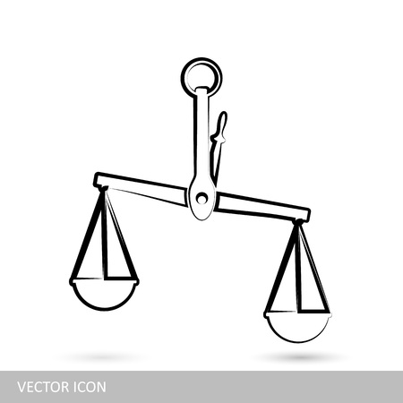Scales icon. Vector weights icons in linear design style. Illustration