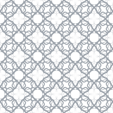 Seamless abstract floral pattern. Geometric flower ornament.