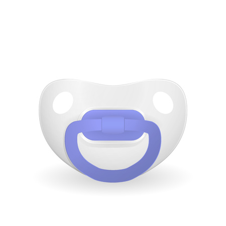Baby dummy pacifier isolated on white background. Vector illustration.