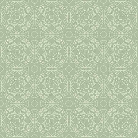 Seamless abstract floral pattern in oriental style. Geometric flower ornament. Stock Illustratie