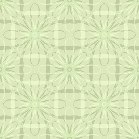Seamless abstract floral pattern. Geometric flower ornament