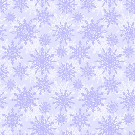 Seamless winter background with snowflakes. Holiday Christmas pattern. Merry Christmas and Happy New Year.