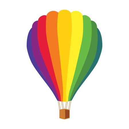 aeronautics: Balloon bright colorful clipart in a flat style. Illustration