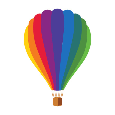 soar: Balloon bright colorful clipart in a flat style. Illustration