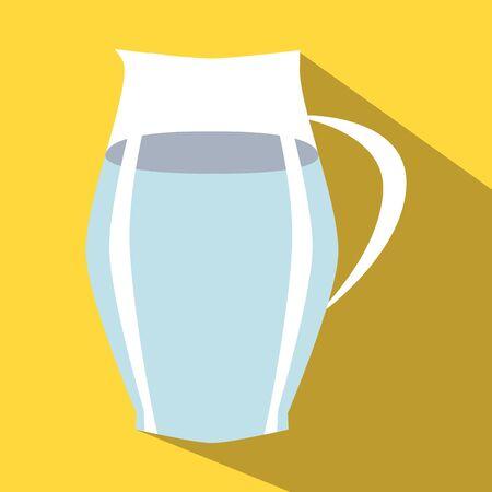 greek pot: Brocca di acqua colorata icona su uno sfondo giallo.