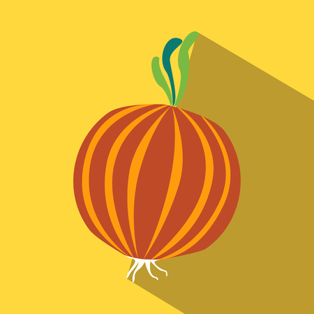 onions: Onions colored icon on a yellow background.